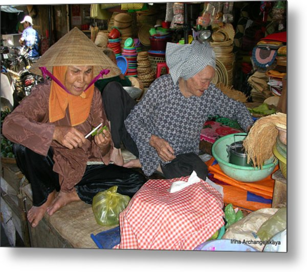 Two Vietnamese Girlfriends Metal Print