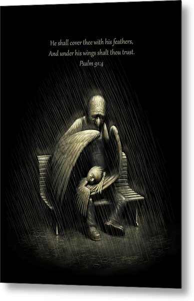Two Wings And A Prayer - With Psalm 91 Metal Print