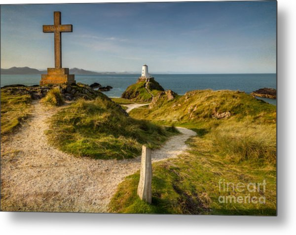 Metal Print featuring the photograph Twr Mawr Lighthouse by Adrian Evans