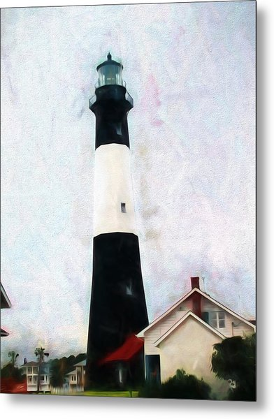 Tybee Lighthouse - Coastal Metal Print