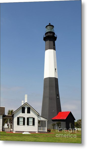 Metal Print featuring the photograph Tybee Lighthouse Georgia by Steven Frame