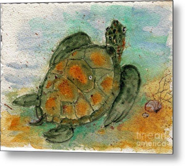 Tybee Sea Turtle Metal Print