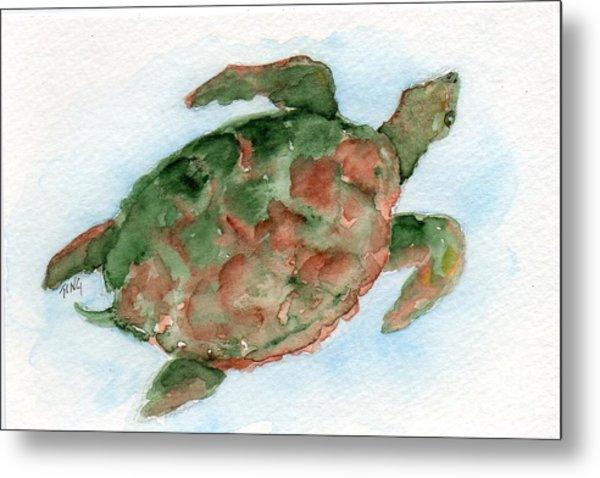 Tybee Turtle Metal Print