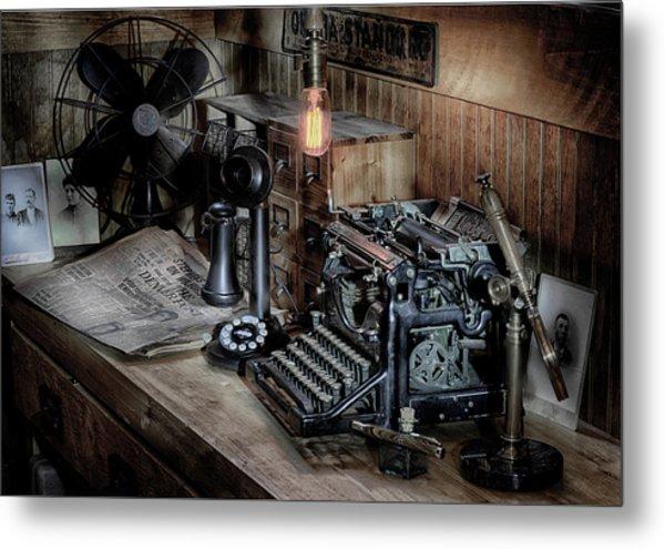 Typewriter Manifesto  Metal Print