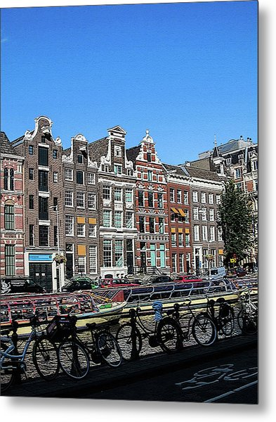 Typical Houses In Amsterdam Metal Print