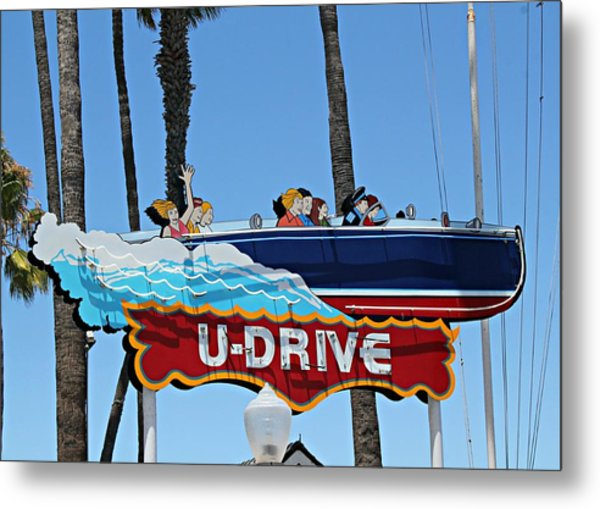 U-drive Boat Sign Metal Print
