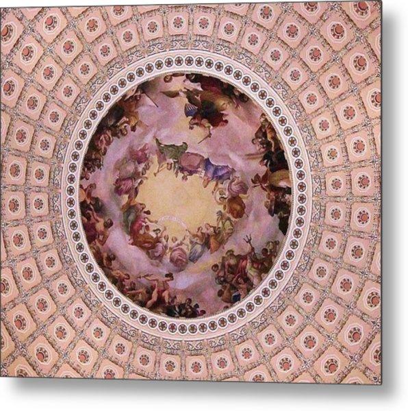 U S Capitol Dome Mural # 3 Metal Print