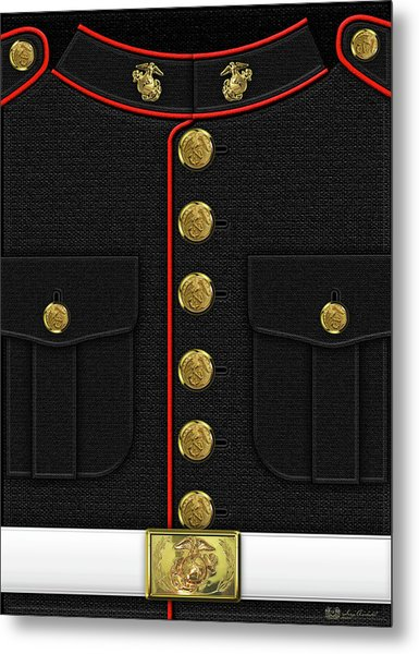 U S M C Dress Uniform Metal Print