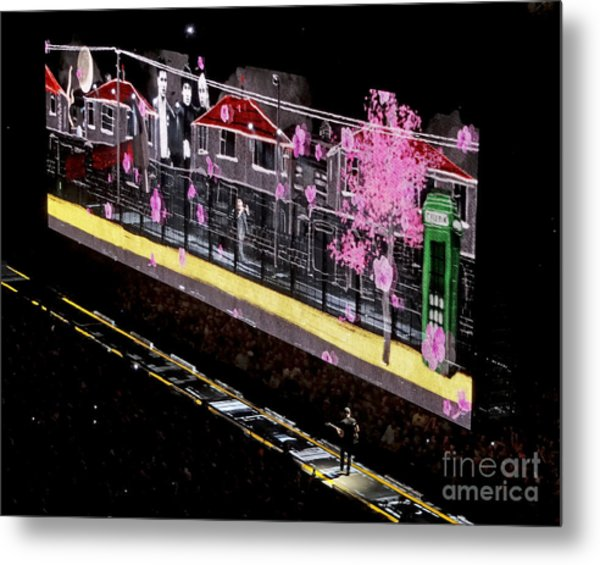 U2 Innocence And Experience Tour 2015 Opening At San Jose. 3 Metal Print