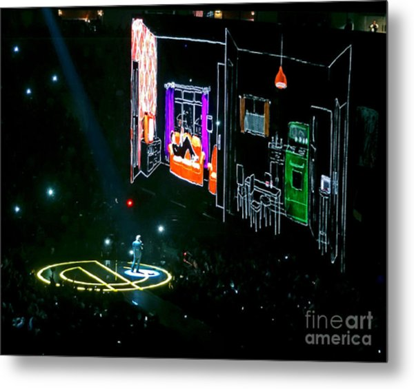 U2 Innocence And Experience Tour 2015 Opening At San Jose. 5 Metal Print