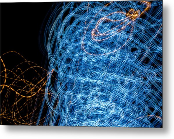 Ufa Neon Abstract Light Painting Sodium #7 Metal Print