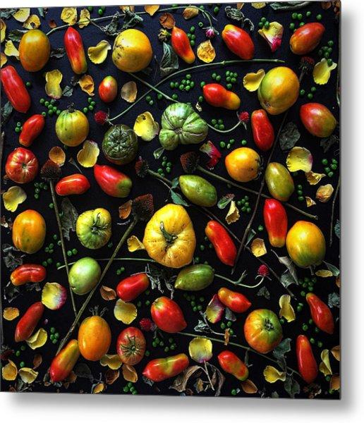 Heirloom Tomato Patterns Metal Print