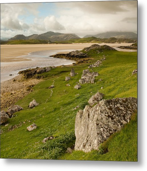Uig Sands - Isle Of Lewis Metal Print