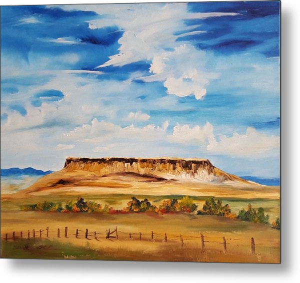 Ulm Montana First People's Buffalo Jump   93 Metal Print