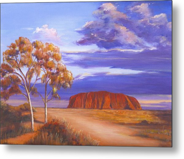 Uluru  - Ayers Rock Metal Print by Robynne Hardison