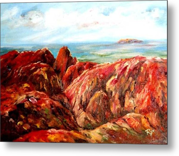 Uluru Viewed From Kata Tjuta Metal Print
