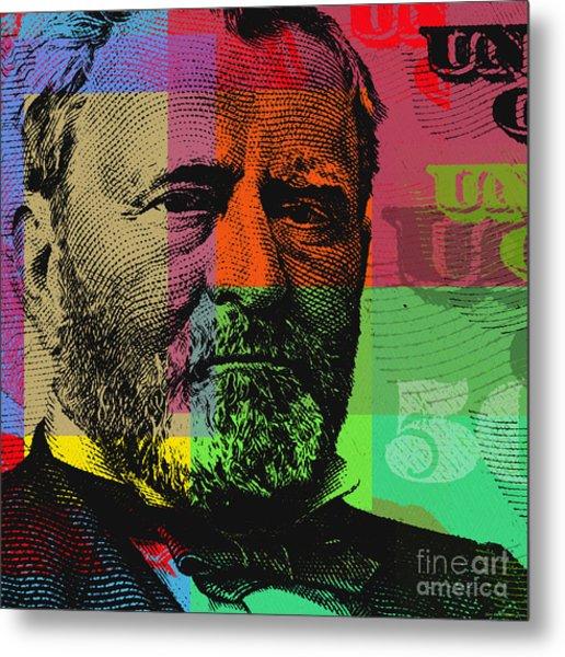 Ulysses S. Grant - $50 Bill Metal Print