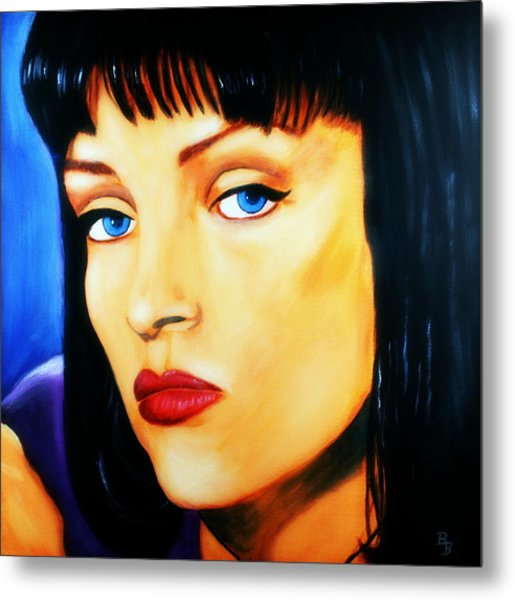 Uma Thurman In Pulp Fiction Metal Print