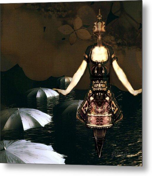 Umbrella Dance Metal Print