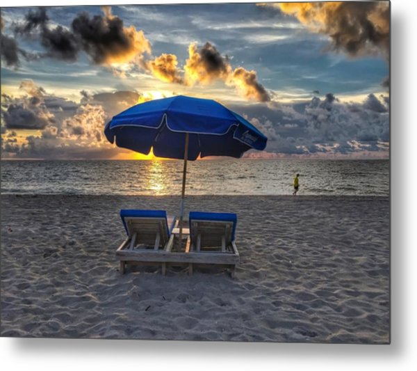 Umbrella For Two Metal Print
