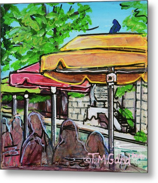 Metal Print featuring the painting Umbrellas by TM Gand