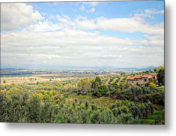Umbrian View Metal Print