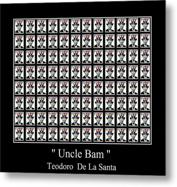 Uncle Bam   96 Posted Stamps Metal Print by Teodoro De La Santa