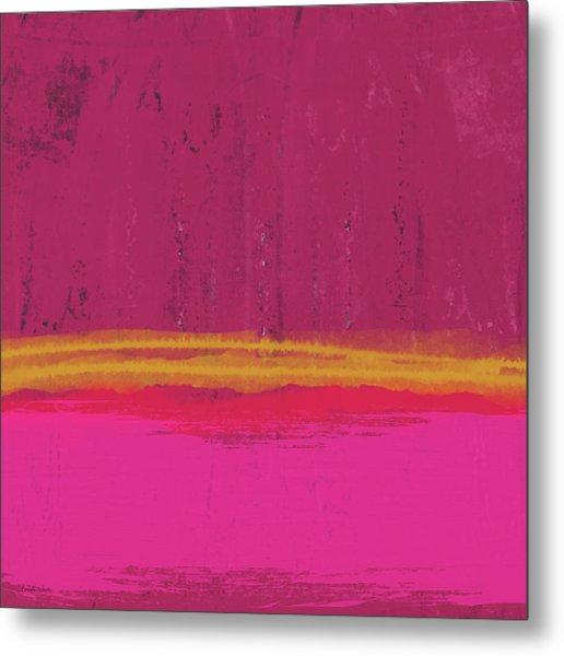 Undaunted Pink Abstract- Art By Linda Woods Metal Print