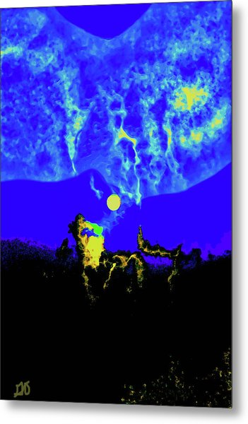 Under A Full Moon Metal Print