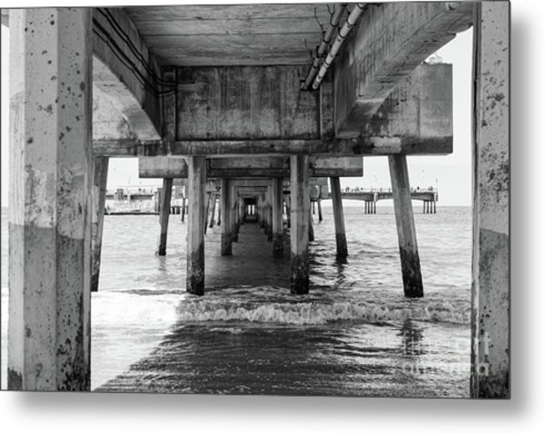 Under Belmont Veterans Memorial Pier Metal Print