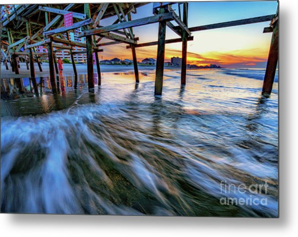 Under Cherry Grove Pier 2 Metal Print