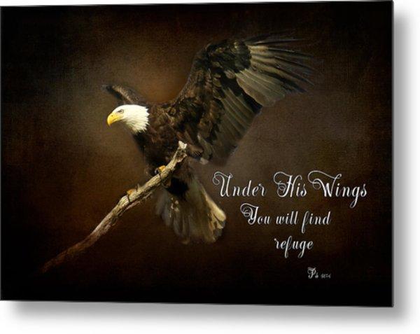 Under His Wings Metal Print