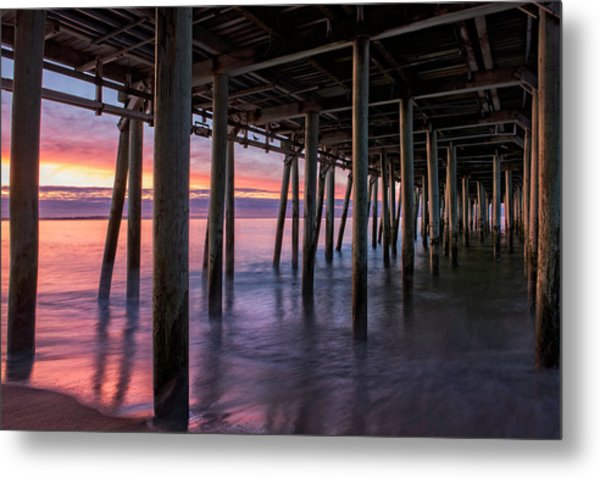 Metal Print featuring the photograph Under Old Orchard Pier by Expressive Landscapes Fine Art Photography by Thom