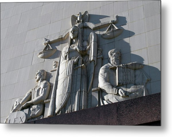 Under Scales Of Justice Metal Print