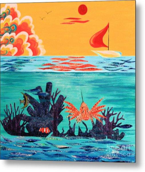 Bright Coral Reef Metal Print