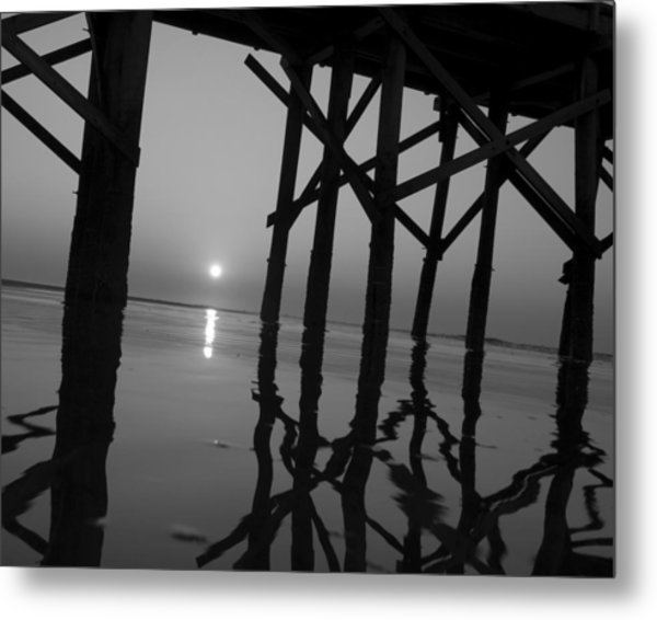 Under The Boardwalk Bw1 Metal Print by Tom Rickborn