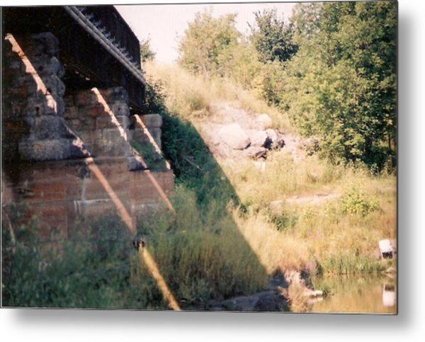 Under The Bridge - Photograph Metal Print by Jackie Mueller-Jones
