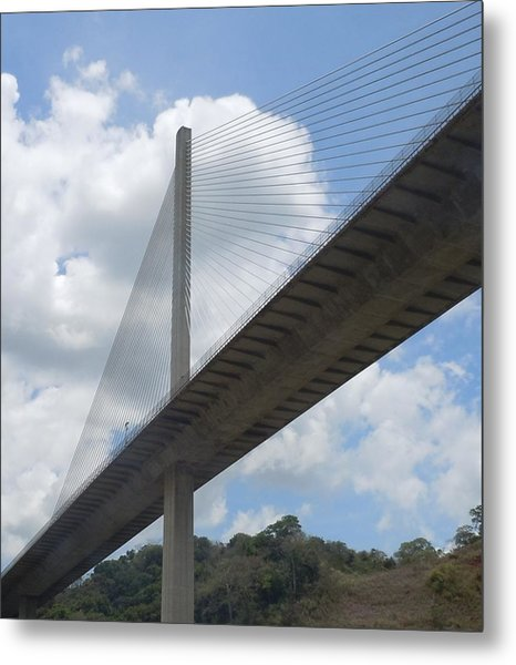 Under The Bridge Through Panama Metal Print