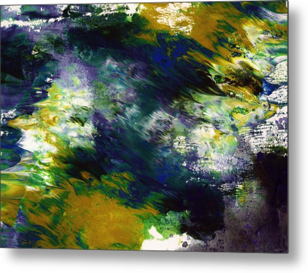 Under The Canopy 2- Abstract Art By Linda Woods Metal Print