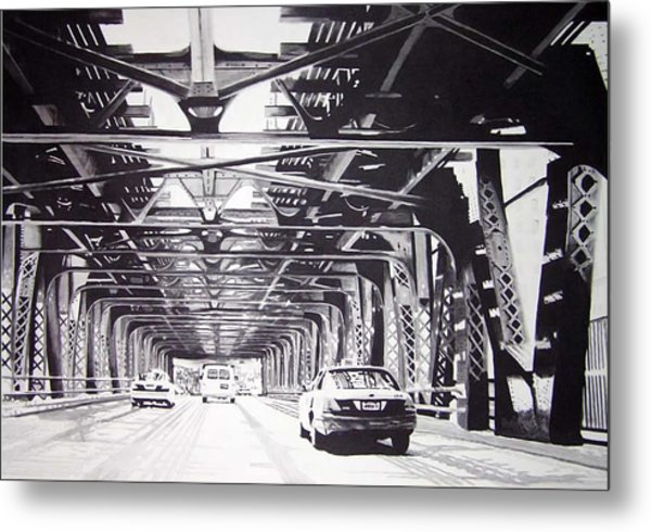 Under The El Metal Print by Scott Robinson