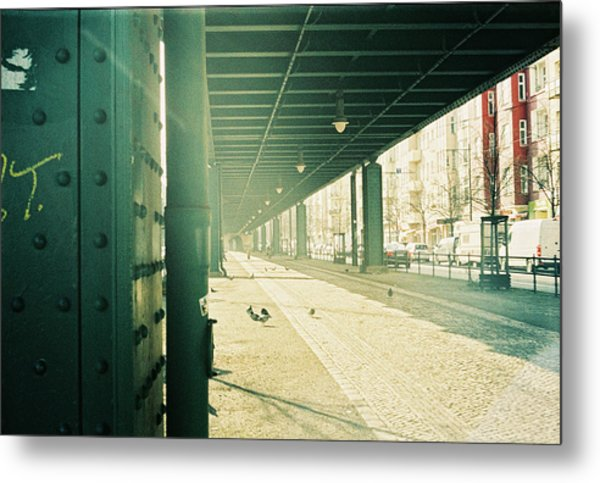 Under The Elevated Railway Metal Print