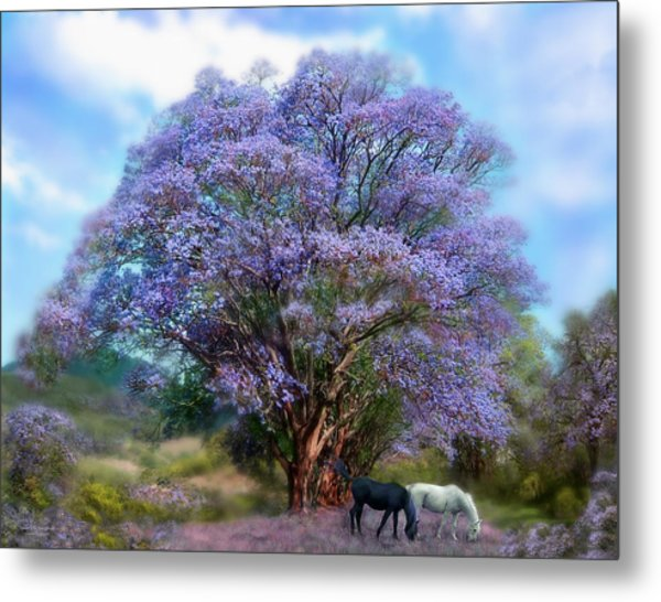 Under The Jacaranda Metal Print