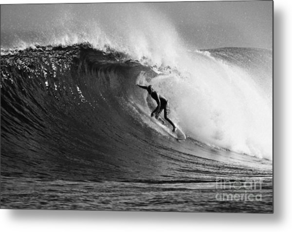 Under The Lip In Black And White Metal Print
