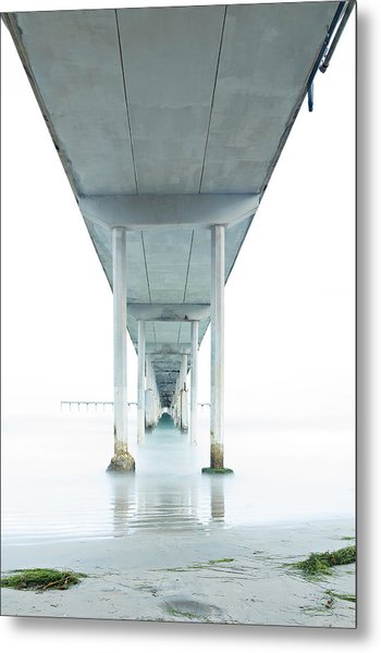 Under The Ocean Beach Pier Early Morning Metal Print