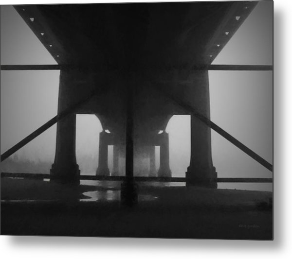 Under The Old Sakonnet River Bridge Metal Print
