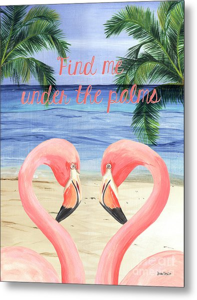 Under The Palms Metal Print