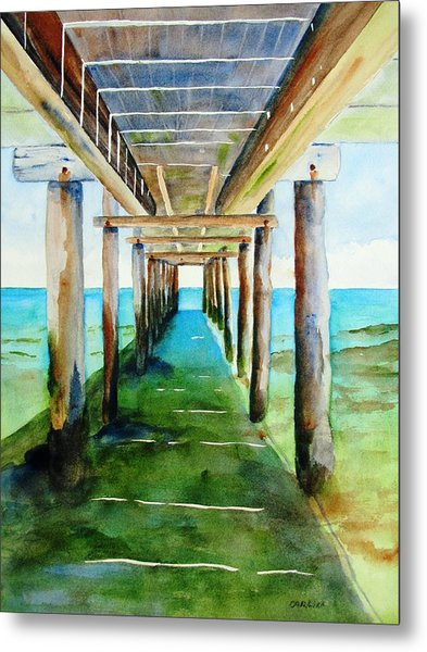 Under The Playa Paraiso Pier Metal Print