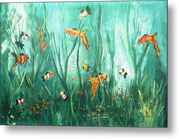 under the sea I Metal Print by Miroslaw  Chelchowski