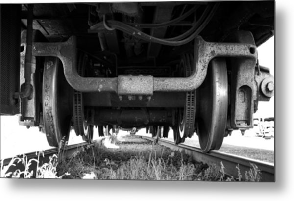 Under The Train Metal Print