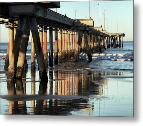 Under The Venice Beach Pier Metal Print